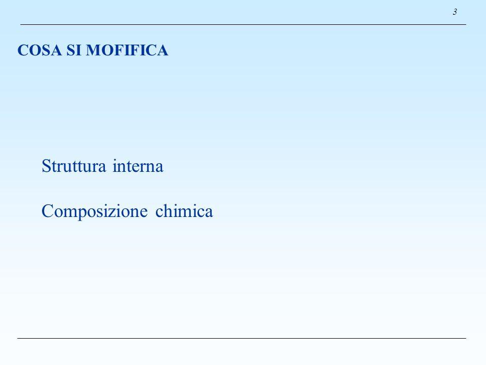 COSA SI MOFIFICA 3 Struttura interna Composizione chimica