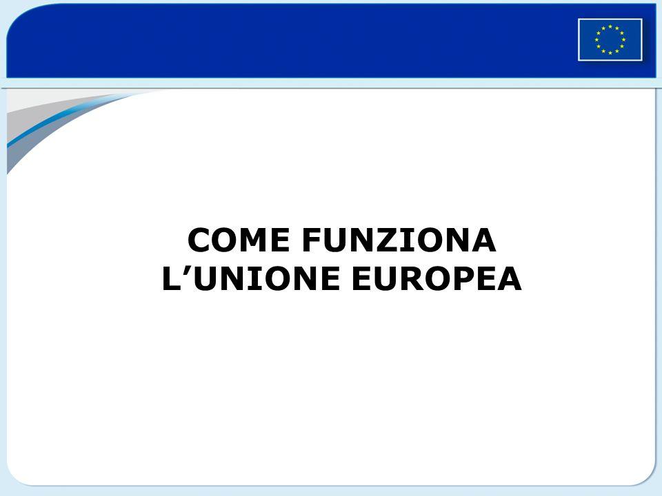 COME FUNZIONA LUNIONE EUROPEA