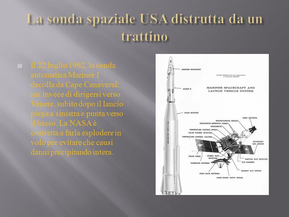 Il rapporto pubblicato in seguito dalla NASA ammette che la causa dell errore è un singolo trattino mancante da una riga di codice FORTRAN del programma di guida automatica della sonda.
