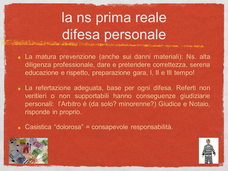 la ns prima reale difesa personale La matura prevenzione (anche sui danni materiali): Ns. alta diligenza professionale, dare e pretendere correttezza,