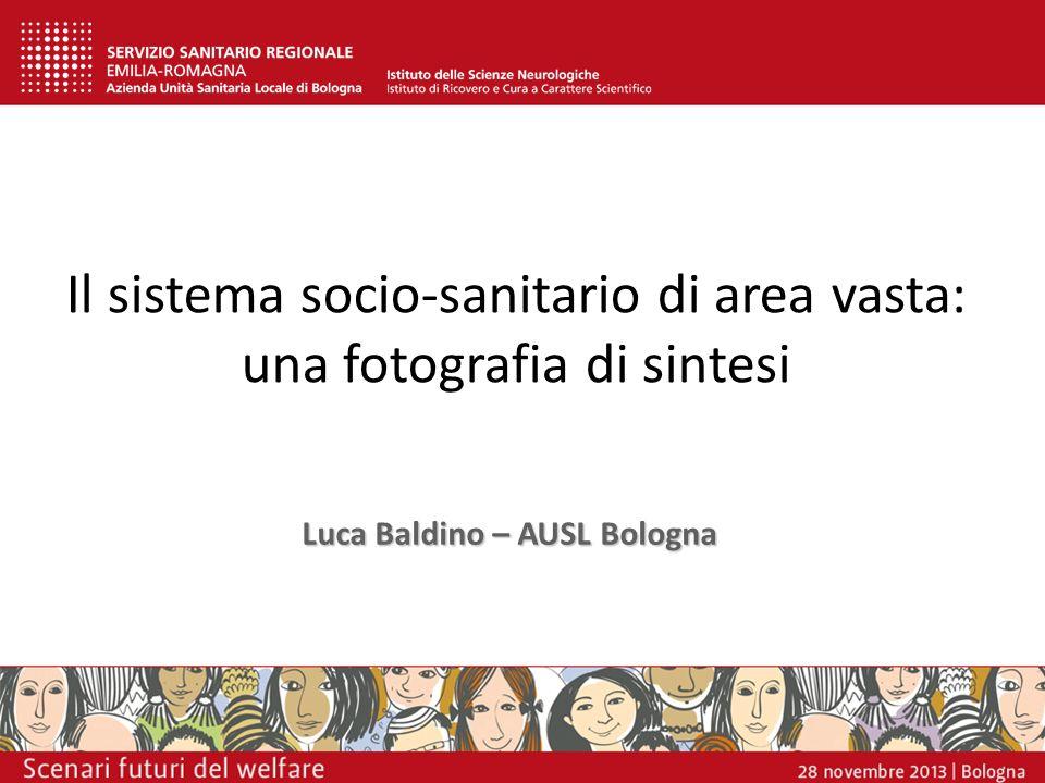 Il sistema socio-sanitario di area vasta: una fotografia di sintesi Luca Baldino – AUSL Bologna