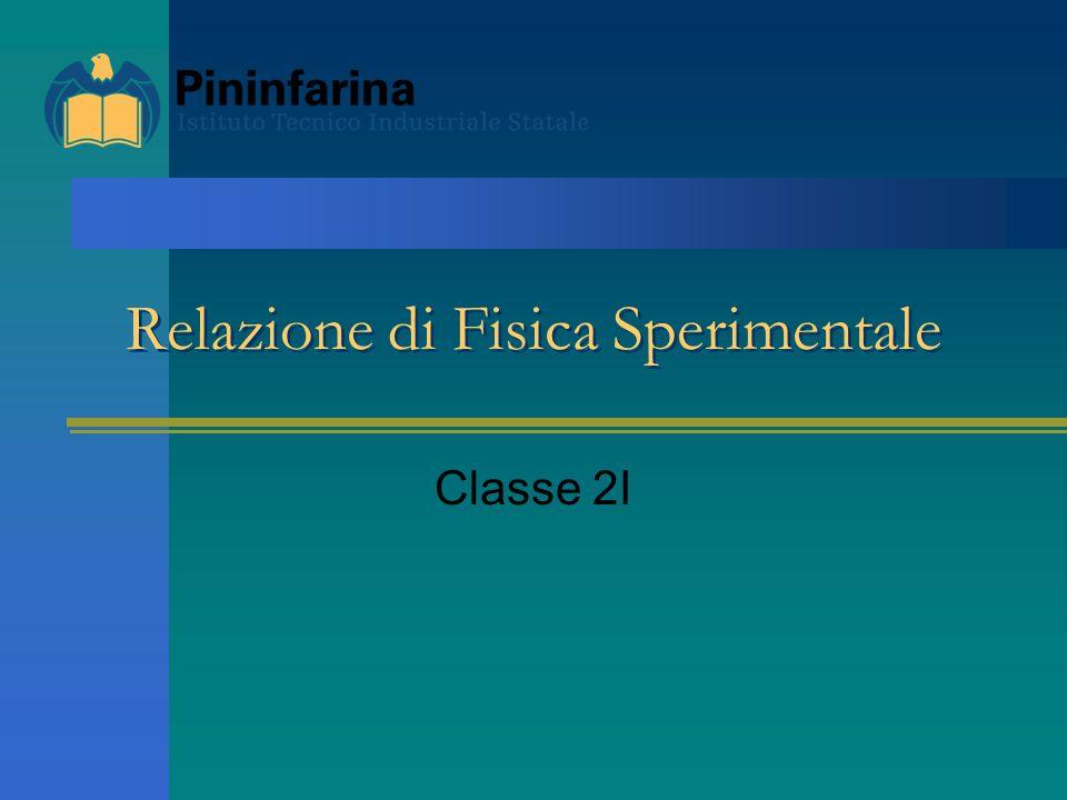Relazione di Fisica Sperimentale Classe 2I