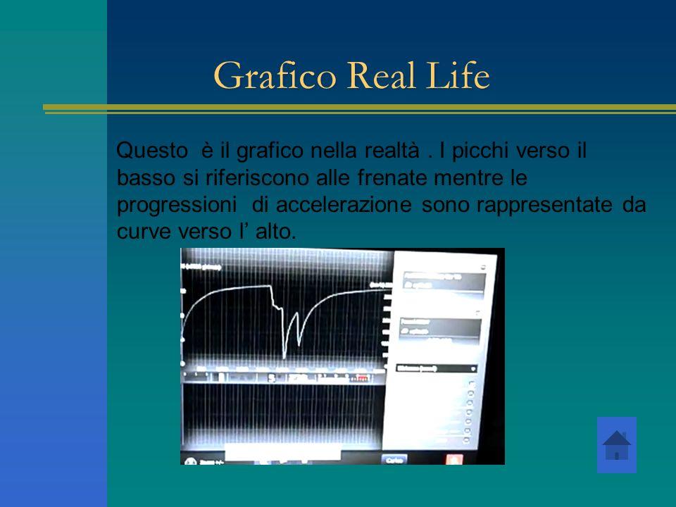 Grafico Real Life Questo è il grafico nella realtà. I picchi verso il basso si riferiscono alle frenate mentre le progressioni di accelerazione sono r
