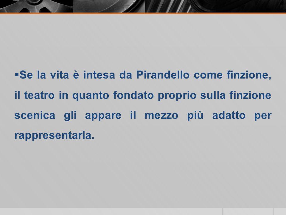 Dal 1910 Pirandello ebbe il primo contatto con il mondo teatrale Dal 1915 Pirandello divenne soprattutto scrittore per il teatro, anche se non abbandonò mai la narrativa.