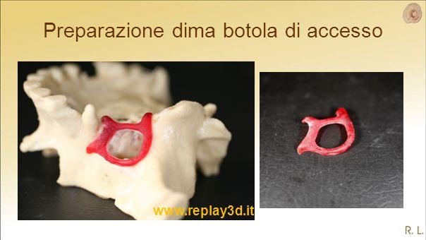 Preparazione dima botola di accesso www.replay3d.it