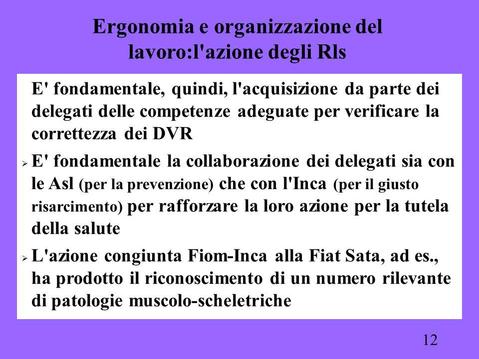 12 E' fondamentale, quindi, l'acquisizione da parte dei delegati delle competenze adeguate per verificare la correttezza dei DVR E' fondamentale la co