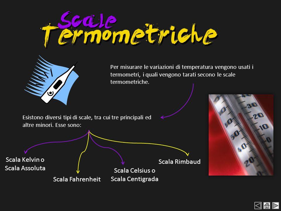 Per misurare le variazioni di temperatura vengono usati i termometri, i quali vengono tarati secono le scale termometriche. Esistono diversi tipi di s