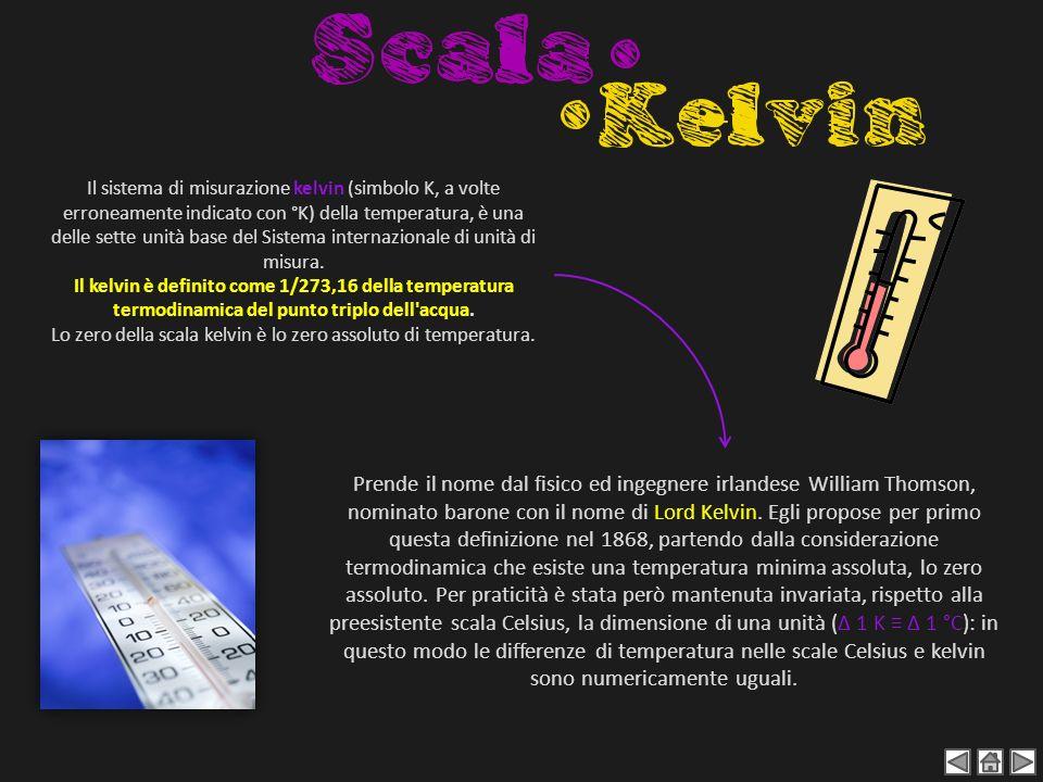 Il sistema di misurazione kelvin (simbolo K, a volte erroneamente indicato con °K) della temperatura, è una delle sette unità base del Sistema interna