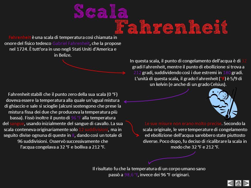 Fahrenheit è una scala di temperatura così chiamata in onore del fisico tedesco Gabriel Fahrenheit, che la propose nel 1724. È tutt'ora in uso negli S