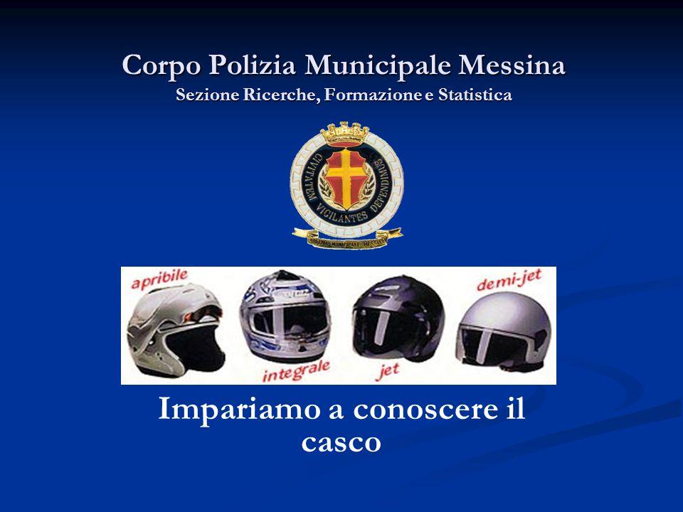Corpo Polizia Municipale Messina Sezione Ricerche, Formazione e Statistica Impariamo a conoscere il casco
