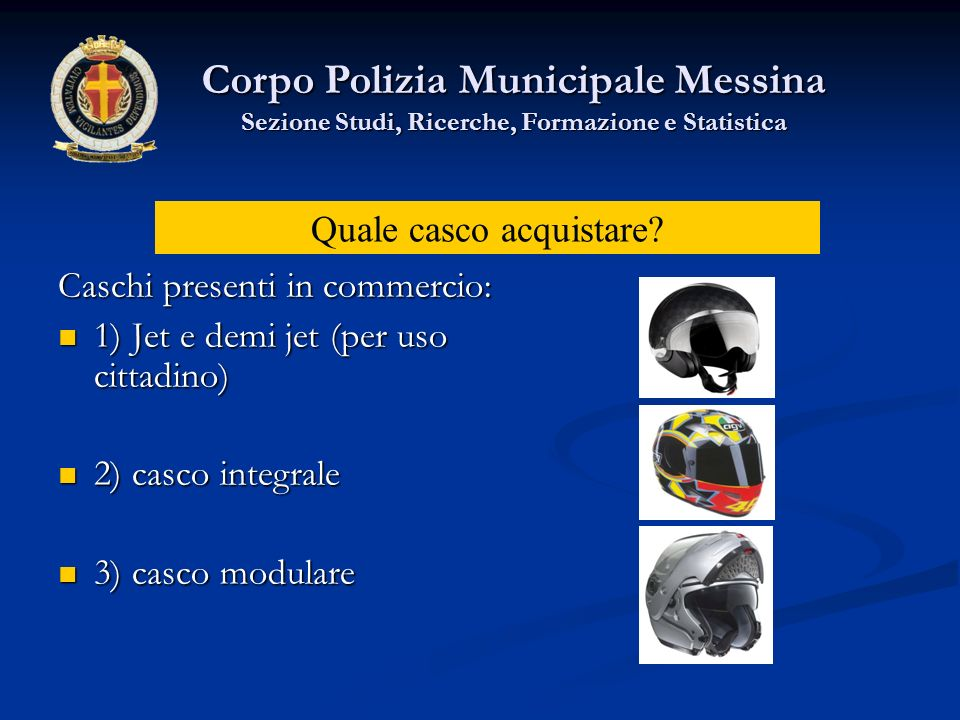 Il consiglio, che noi diamo, è quello di indossare sempre, anche su ciclomotore, un casco omologato ECE 22/05, integrale o modulare con mentoniera omologata per proteggere il viso del conducente.