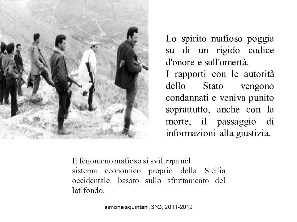 La mafia è unassociazione criminale nata in Sicilia nel XIX secolo, trasformatasi in seguito in un'organizzazione affaristico - criminale diffusa in t
