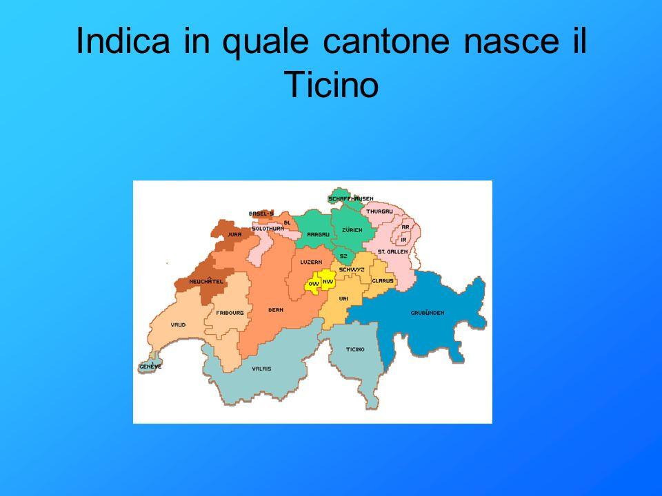 Indica in quale cantone nasce il Ticino