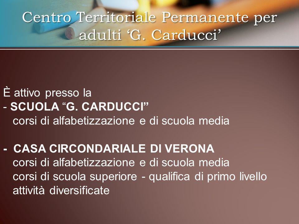 Coordina la scuola nel carcere di Verona fin dallistituzione sulk territorial national die CTP, nel 1997.Coordina la scuola nel carcere di Verona fin dallistituzione sulk territorial national die CTP, nel 1997.