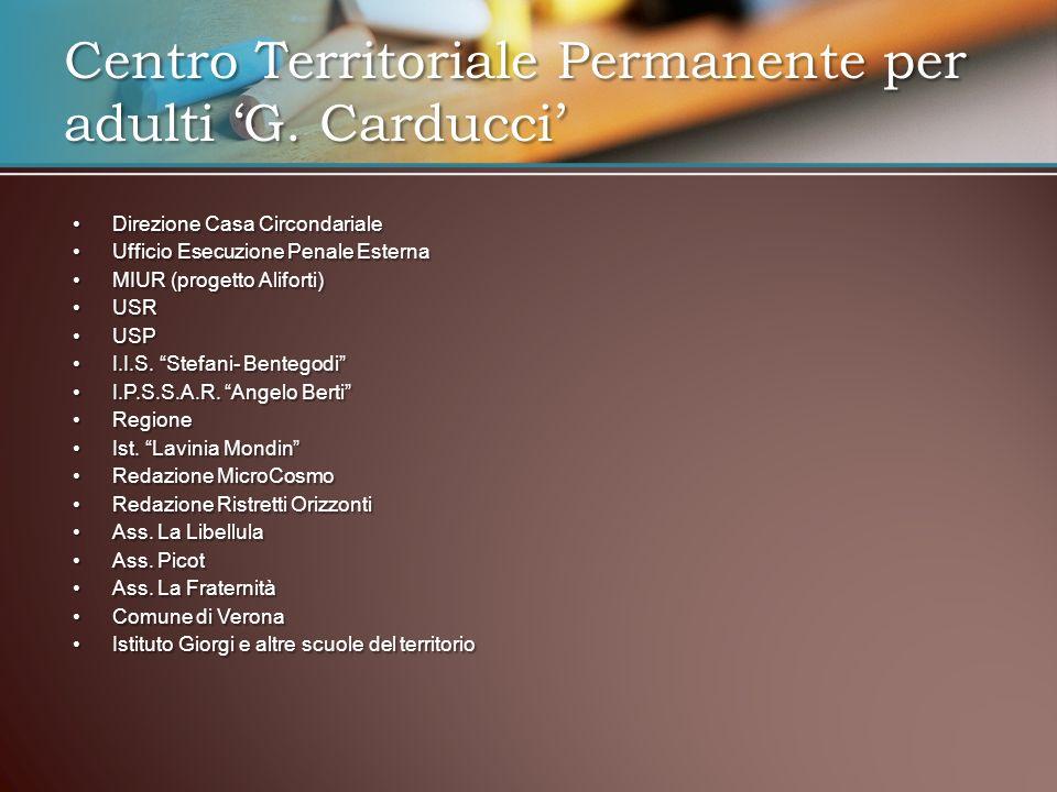 Direzione Casa CircondarialeDirezione Casa Circondariale Ufficio Esecuzione Penale EsternaUfficio Esecuzione Penale Esterna MIUR (progetto Aliforti)MI