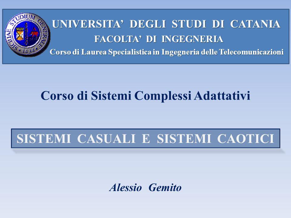 UNIVERSITA DEGLI STUDI DI CATANIA UNIVERSITA DEGLI STUDI DI CATANIA FACOLTA DI INGEGNERIA FACOLTA DI INGEGNERIA Corso di Laurea Specialistica in Ingeg