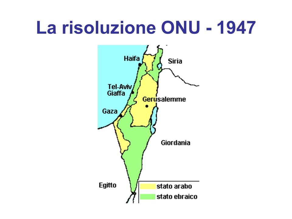 La risoluzione ONU - 1947