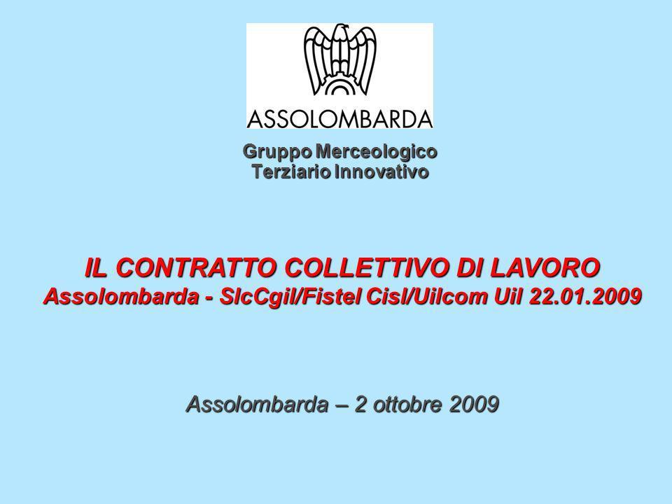 Gruppo Merceologico Terziario Innovativo IL CONTRATTO COLLETTIVO DI LAVORO Assolombarda - SlcCgil/Fistel Cisl/Uilcom Uil 22.01.2009 Assolombarda – 2 o