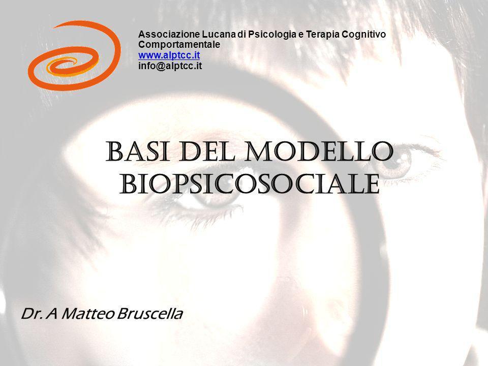 Basi del modello BIOPSICOSOCIALE Dr.