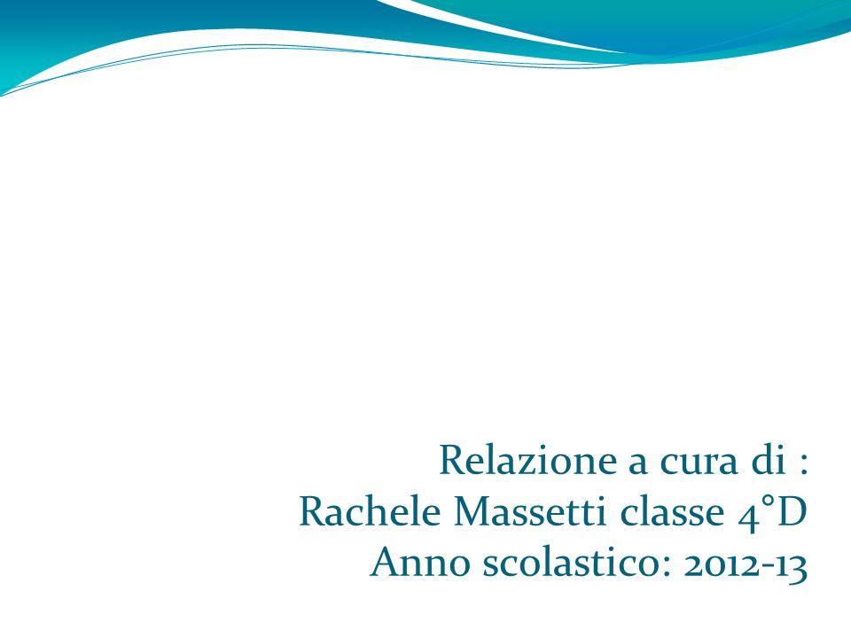 Relazione a cura di : Rachele Massetti classe 4°D Anno scolastico: 2012-13