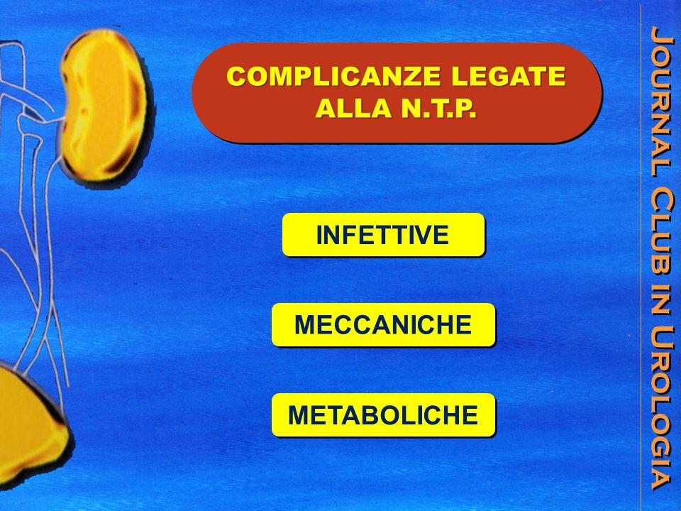 Journal Club in Urologia COMPLICANZE LEGATE ALLA N.T.P. INFETTIVE MECCANICHE METABOLICHE