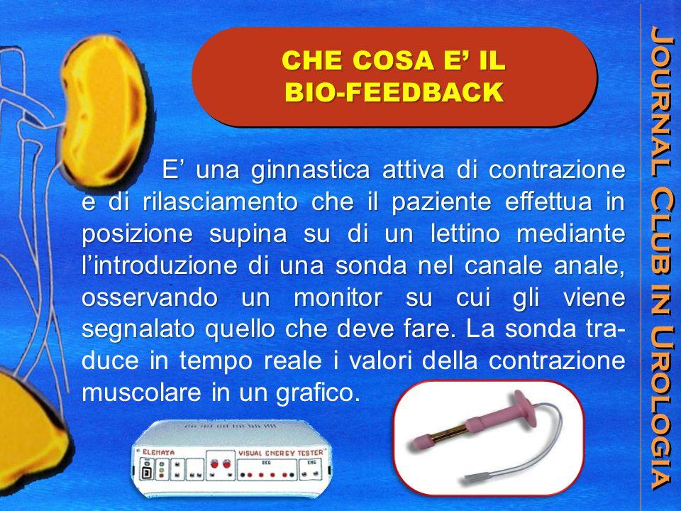 Journal Club in Urologia E una ginnastica attiva di contrazione e di rilasciamento che il paziente effettua in posizione supina su di un lettino media