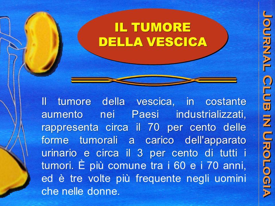 Journal Club in Urologia Il tumore della vescica, in costante aumento nei Paesi industrializzati, rappresenta circa il 70 per cento delle forme tumorali a carico dell apparato urinario e circa il 3 per cento di tutti i tumori.