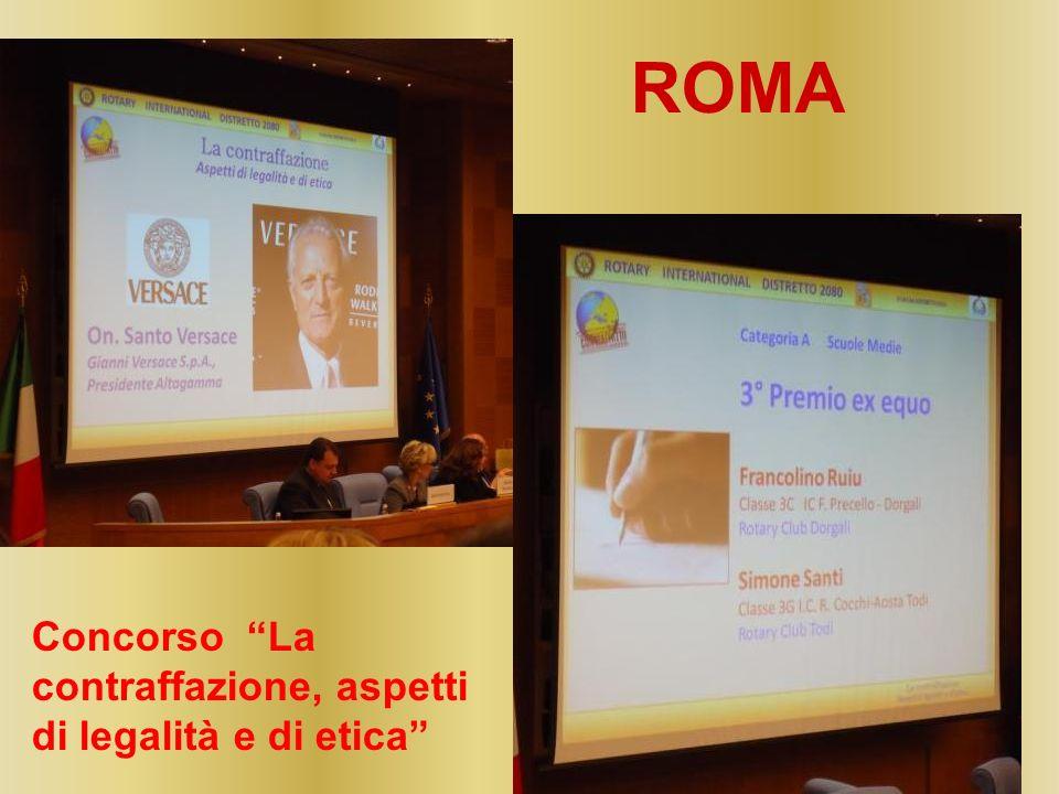 Concorso La contraffazione, aspetti di legalità e di etica ROMA