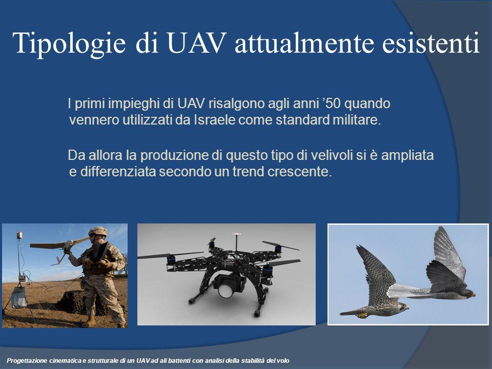 Risposta del sistema Forzante: battito Se V il sistema acquista un margine di stabilità Ovvero uno smorzamento Progettazione cinematica e strutturale di un UAV ad ali battenti con analisi della stabilità del volo