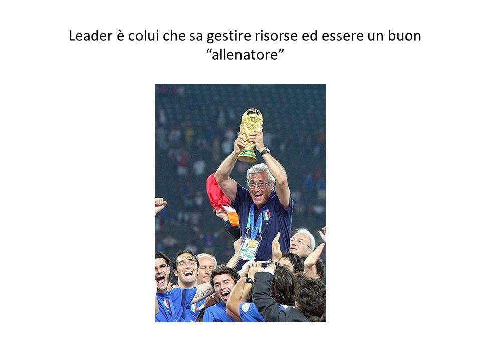Leader è colui che sa gestire risorse ed essere un buon allenatore