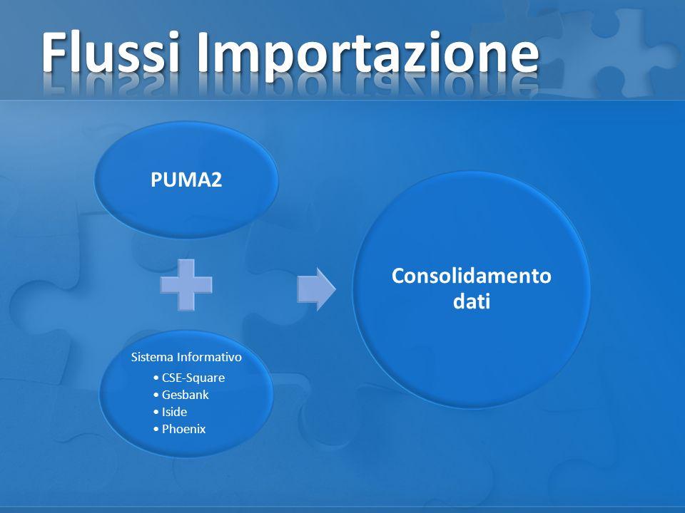 PUMA2 Sistema Informativo CSE-Square Gesbank Iside Phoenix Consolidamento dati
