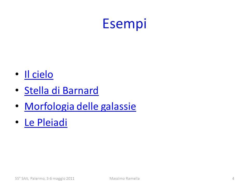 Esempi Il cielo Stella di Barnard Morfologia delle galassie Le Pleiadi 55° SAIt, Palermo, 3-6 maggio 20114Massimo Ramella