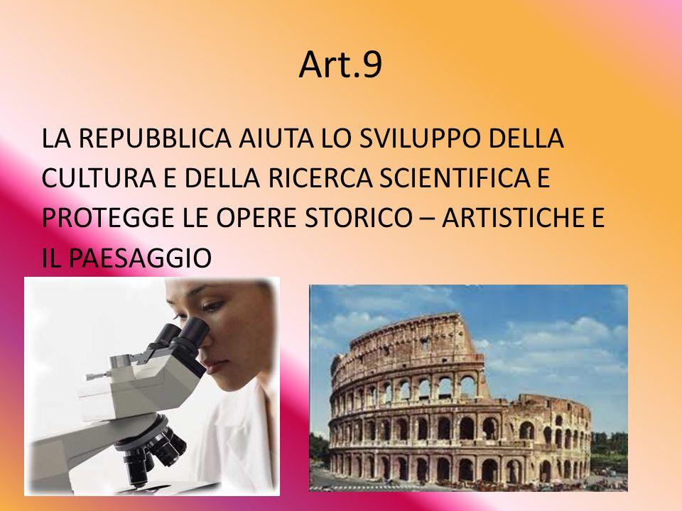Art.8 TUTTE LE RELIGIONI SONO LIBERE