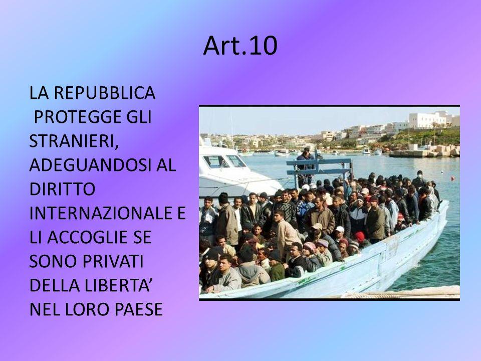 Art.9 LA REPUBBLICA AIUTA LO SVILUPPO DELLA CULTURA E DELLA RICERCA SCIENTIFICA E PROTEGGE LE OPERE STORICO – ARTISTICHE E IL PAESAGGIO