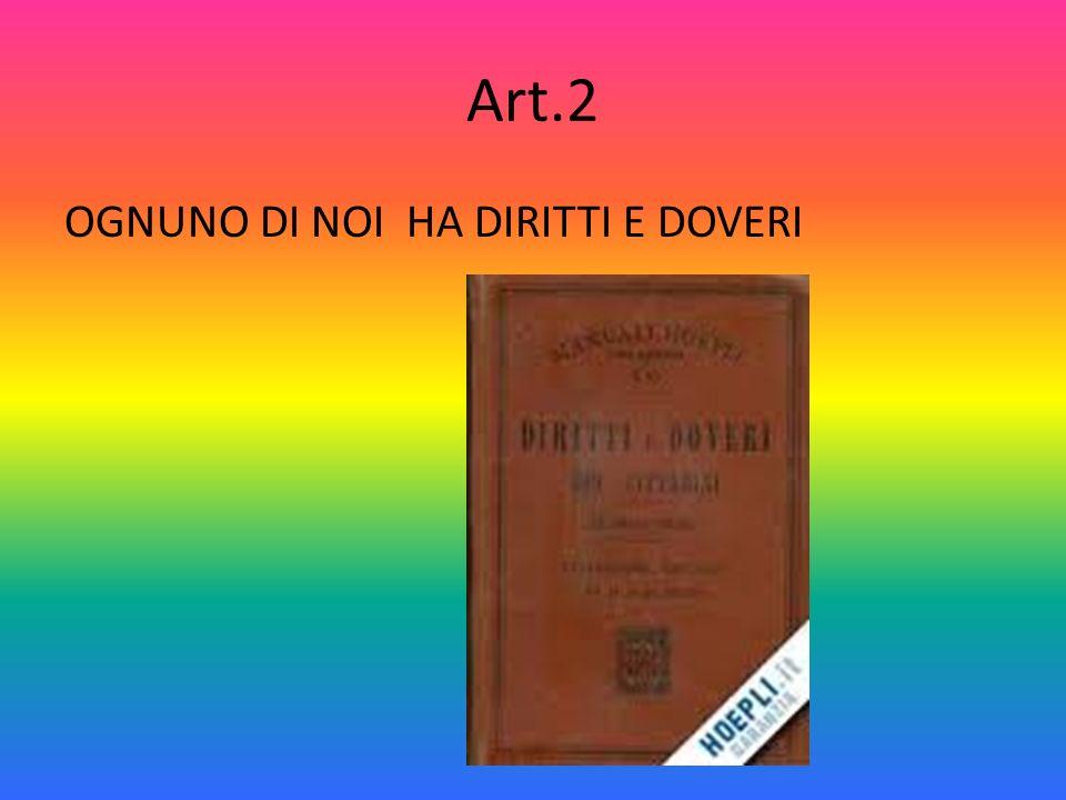 Art.1 LITALIA E UNA REPUBBLICA DEMOCRATICA FONDATA SUL LAVORO