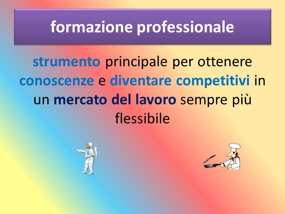 formazione professionale strumento principale per ottenere conoscenze e diventare competitivi in un mercato del lavoro sempre più flessibile
