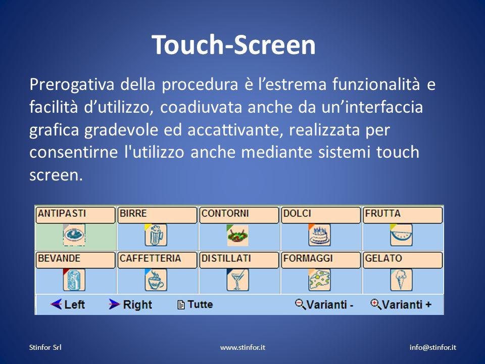 Touch-Screen Prerogativa della procedura è lestrema funzionalità e facilità dutilizzo, coadiuvata anche da uninterfaccia grafica gradevole ed accattiv