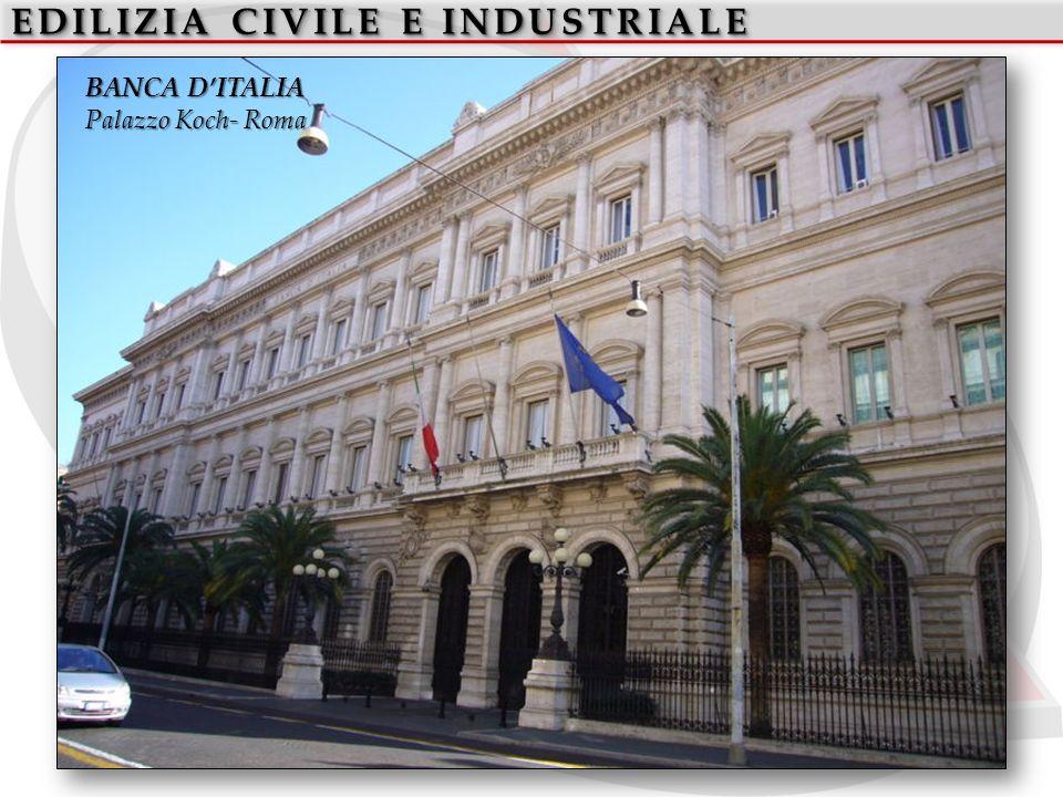 EDILIZIA CIVILE E INDUSTRIALE BANCA DITALIA Palazzo Koch- Roma