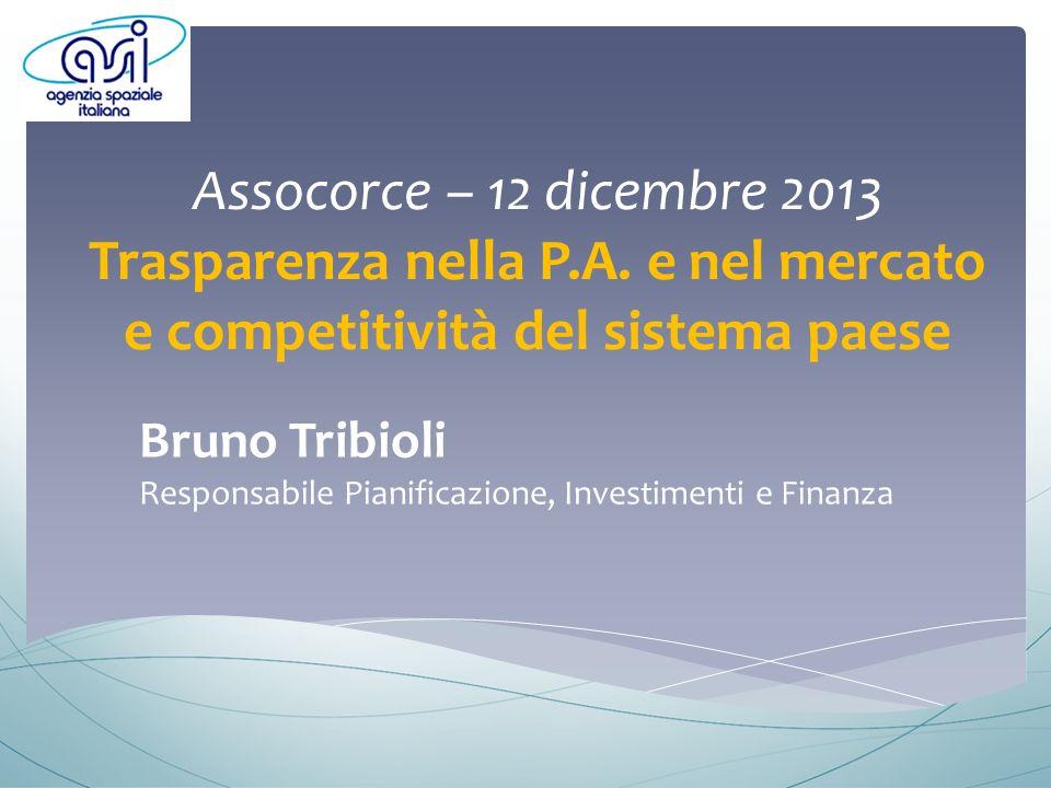 Assocorce – 12 dicembre 2013 Trasparenza nella P.A.
