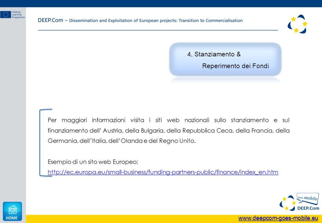 Per maggiori informazioni visita i siti web nazionali sullo stanziamento e sul finanziamento dell Austria, della Bulgaria, della Repubblica Ceca, dell