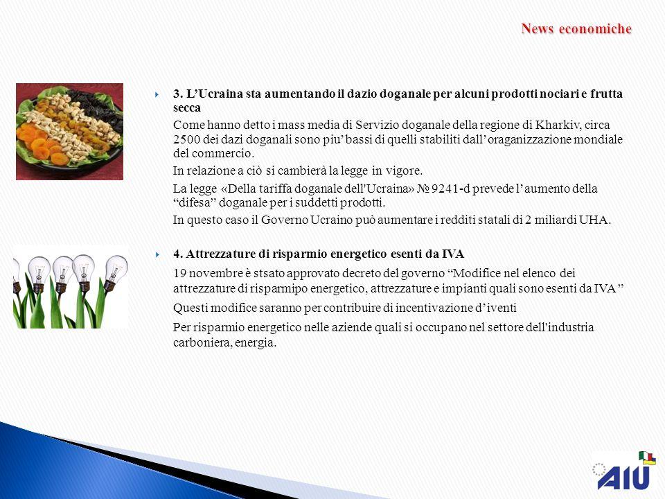 3. LUcraina sta aumentando il dazio doganale per alcuni prodotti nociari e frutta secca Come hanno detto i mass media di Servizio doganale della regio