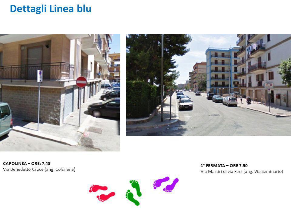 CAPOLINEA – ORE: 7.45 Via Benedetto Croce (ang.