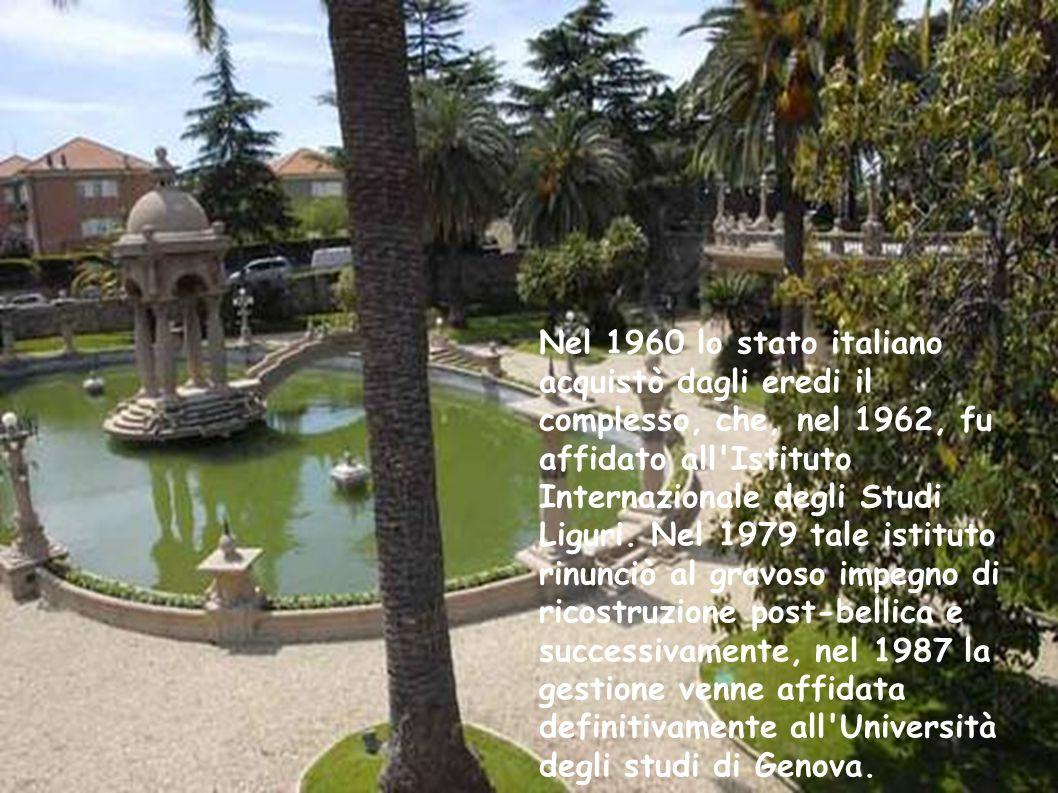 Nel 1960 lo stato italiano acquistò dagli eredi il complesso, che, nel 1962, fu affidato all'Istituto Internazionale degli Studi Liguri. Nel 1979 tale