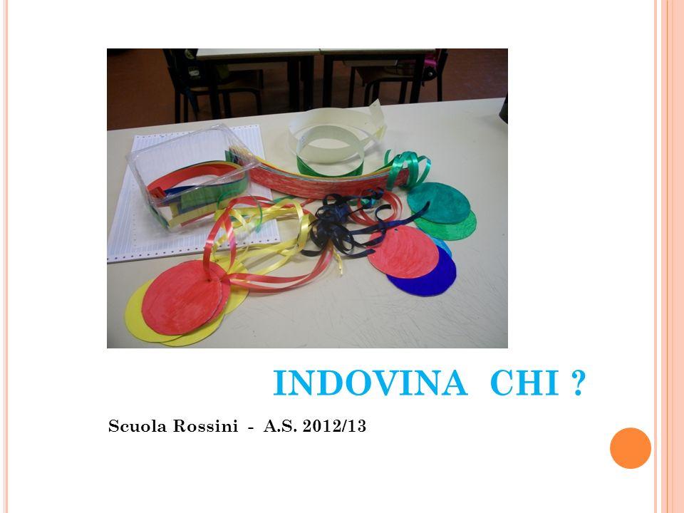 NELLE CLASSI 2^ A –C –D della scuola primaria Rossini l attività è stata svolta in più pomeriggi per far sì che i bambini potessero giocare.