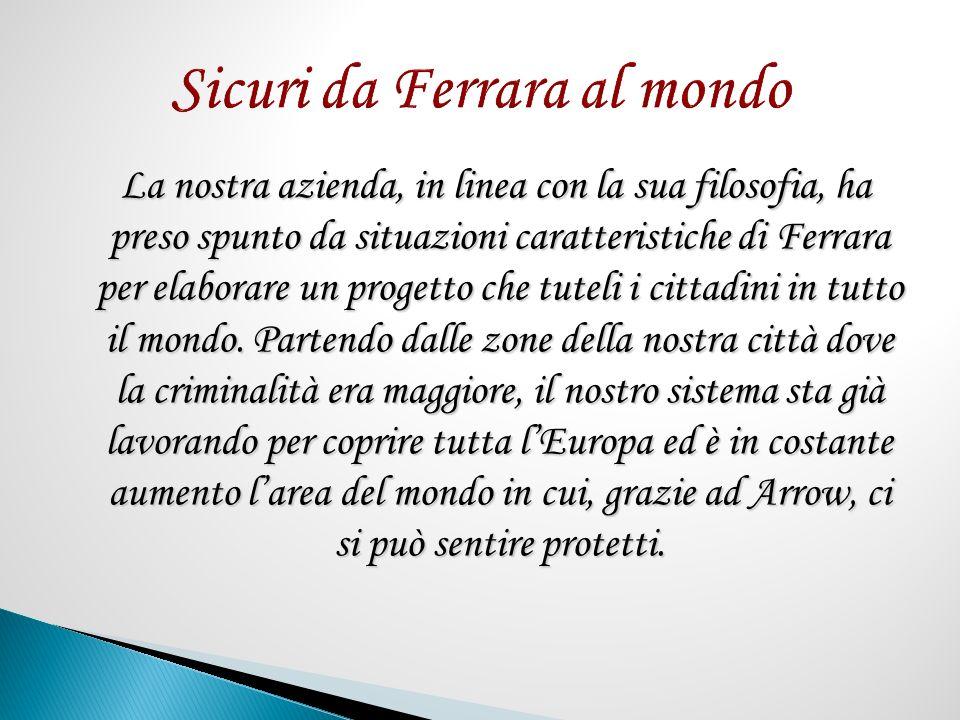La nostra azienda, in linea con la sua filosofia, ha preso spunto da situazioni caratteristiche di Ferrara per elaborare un progetto che tuteli i cittadini in tutto il mondo.