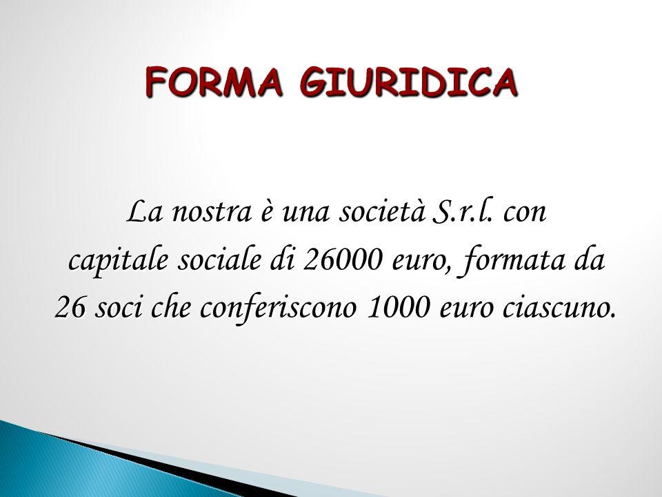 FORMA GIURIDICA La nostra è una società S.r.l.
