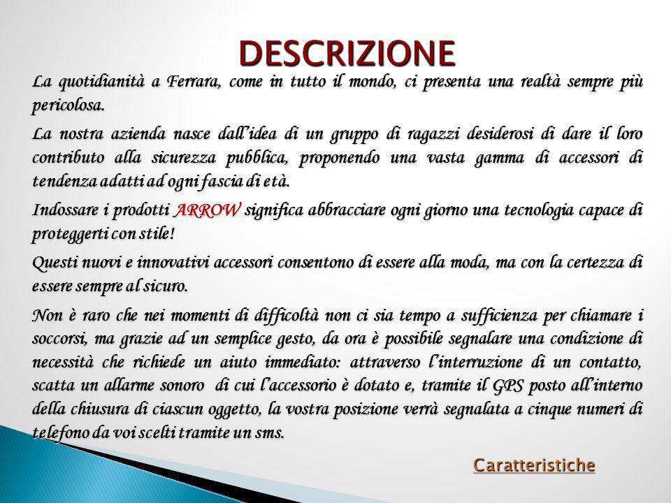 Caratteristiche La quotidianità a Ferrara, come in tutto il mondo, ci presenta una realtà sempre più pericolosa.
