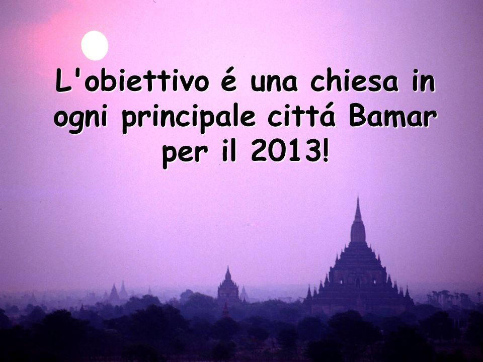 Our Vision L obiettivo é una chiesa in ogni principale cittá Bamar per il 2013!