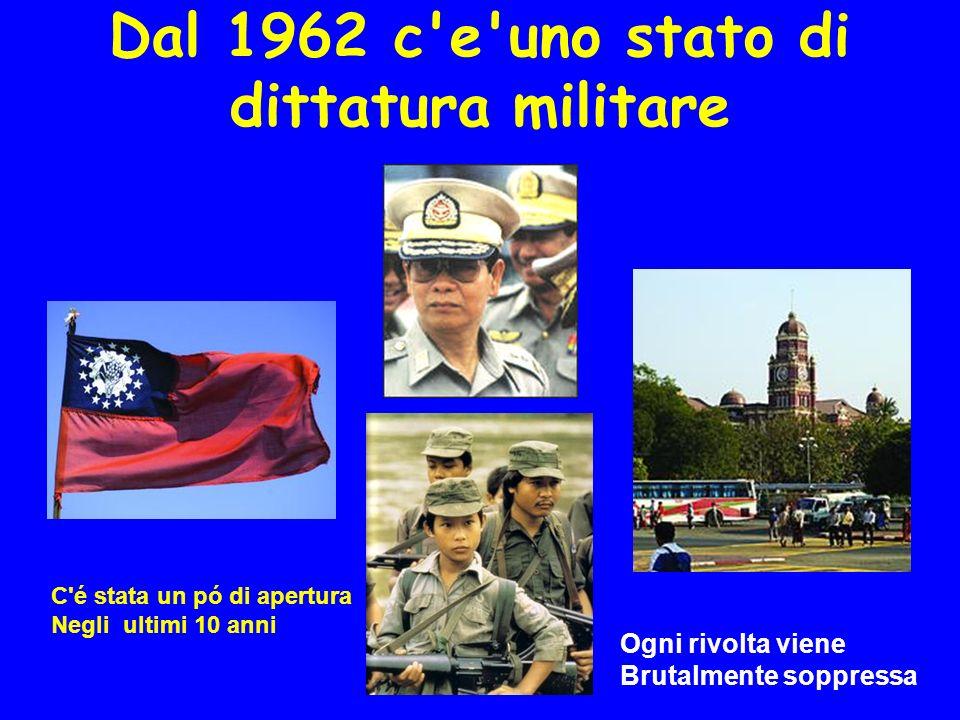 Dal 1962 c e uno stato di dittatura militare C é stata un pó di apertura Negli ultimi 10 anni Ogni rivolta viene Brutalmente soppressa