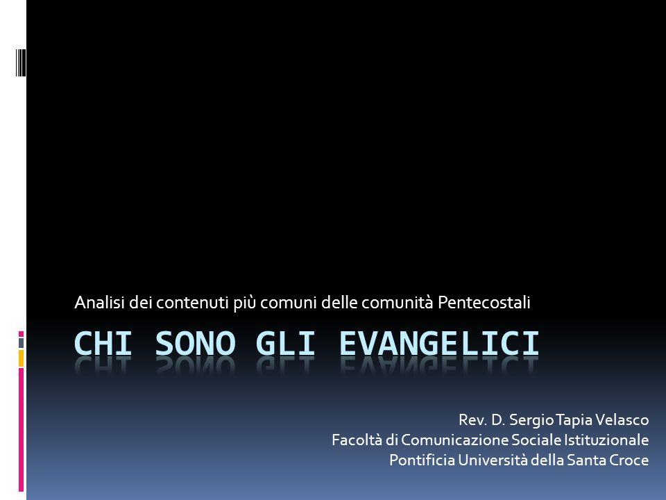 Analisi dei contenuti più comuni delle comunità Pentecostali Rev.